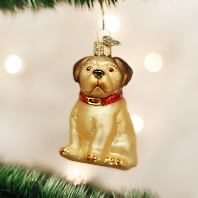 "Old World Christmas ""Pugsley"" Pug Christmas Ornament -  Christmas - Old World Christmas - Putti Fine Furnishings Toronto Canada - 4"