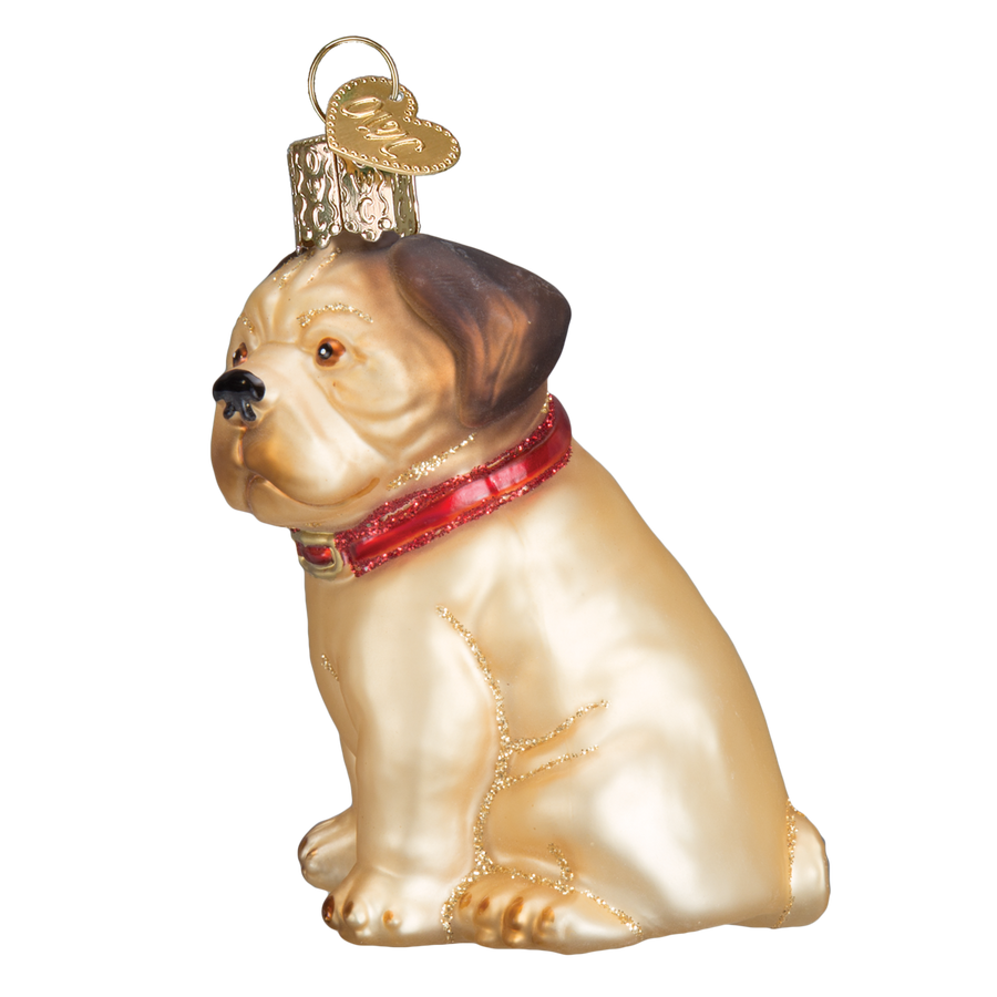 "Old World Christmas ""Pugsley"" Pug Christmas Ornament - Pug Christmas - Old World Christmas - Putti Fine Furnishings Toronto Canada - 1"