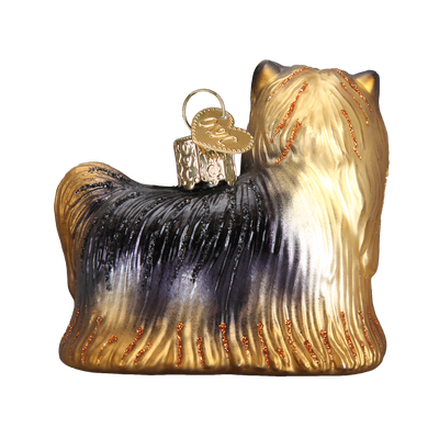 Old World Christmas  Yorkie Yorkshire Terrier Glass Dog Ornament | Putti Christmas Canada