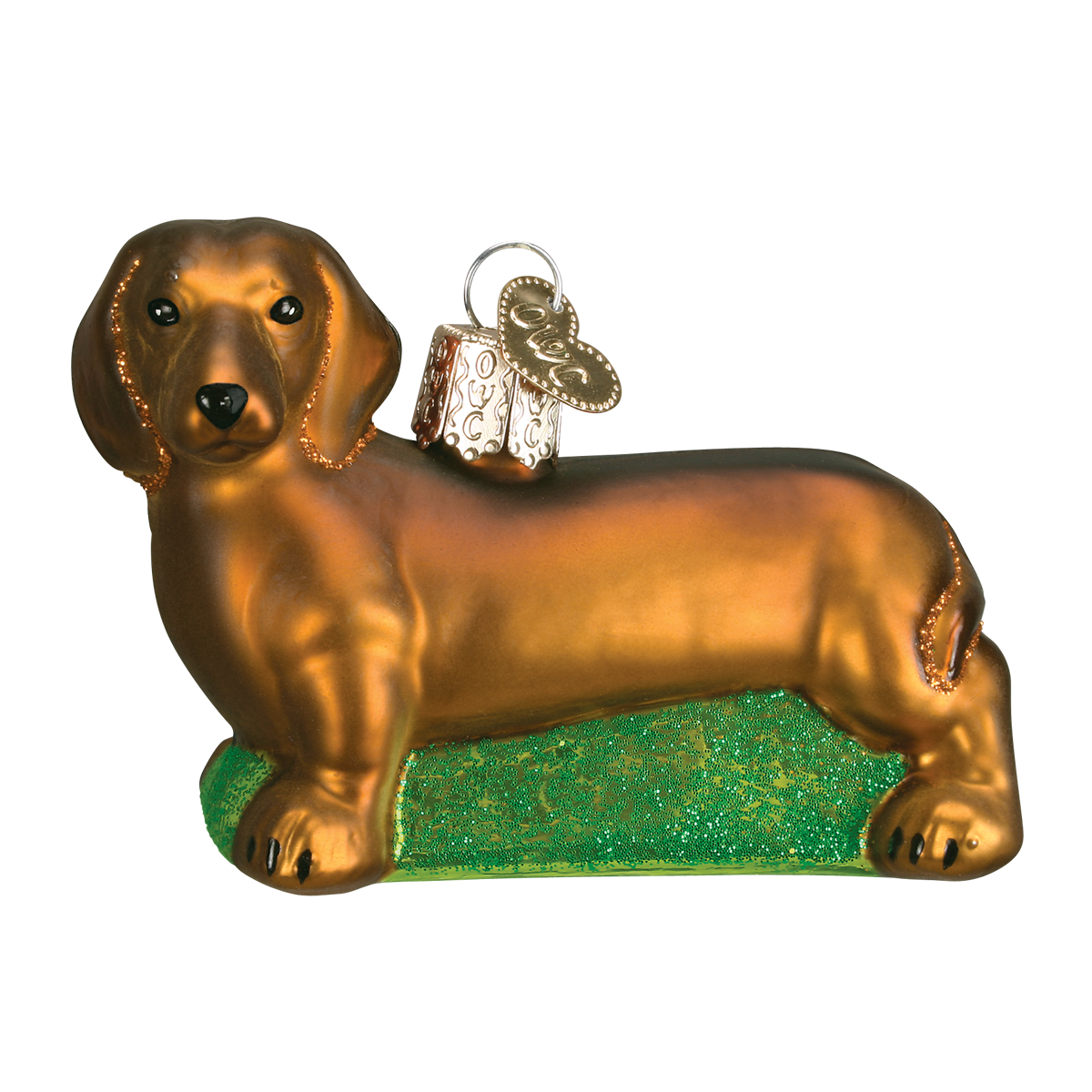 Old World Dachshund Glass Ornament - Putti Christmas