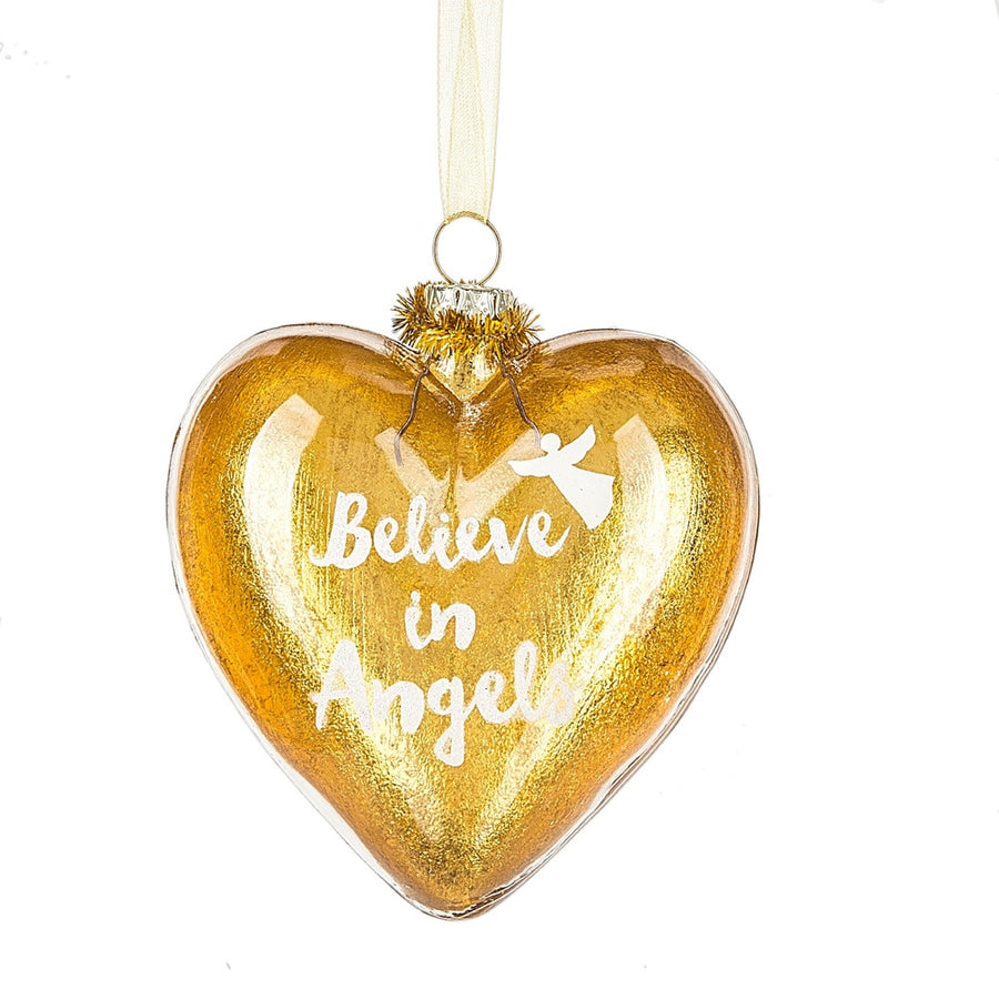 """Believe in Angels"" Heart Ornament"