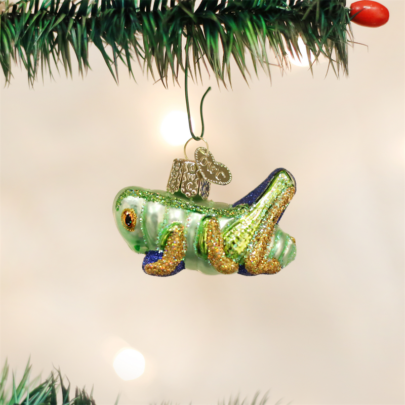 Old Word Christmas Lucky Cricket Glass Ornament, OWC-Old World Christmas, Putti Fine Furnishings