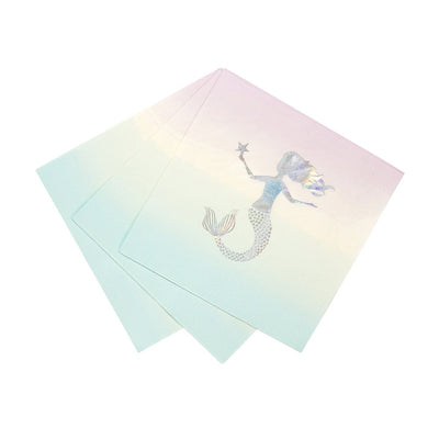 """We Heart Mermaids"" Napkins - Small, TT-Talking Tables, Putti Fine Furnishings"