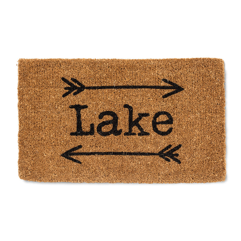 """Lake"" with Arrows Doormat 
