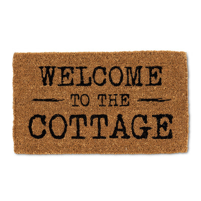 """Welcome To The Cottage"" Doormat, AC-Abbott Collection, Putti Fine Furnishings"