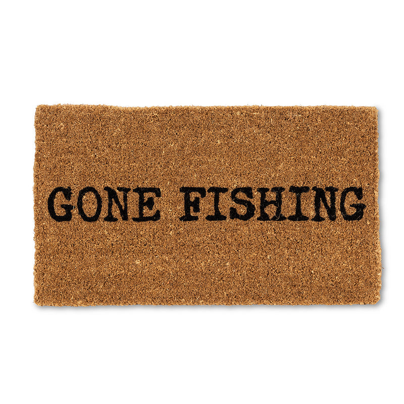 """Gone Fishing"" Doormat, AC-Abbott Collection, Putti Fine Furnishings"