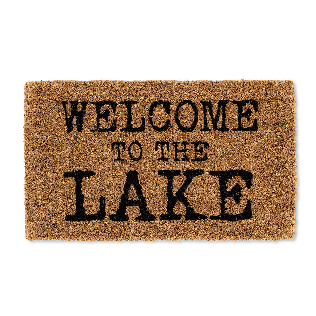 """Welcome To The Lake"" Doormat, AC-Abbott Collection, Putti Fine Furnishings"