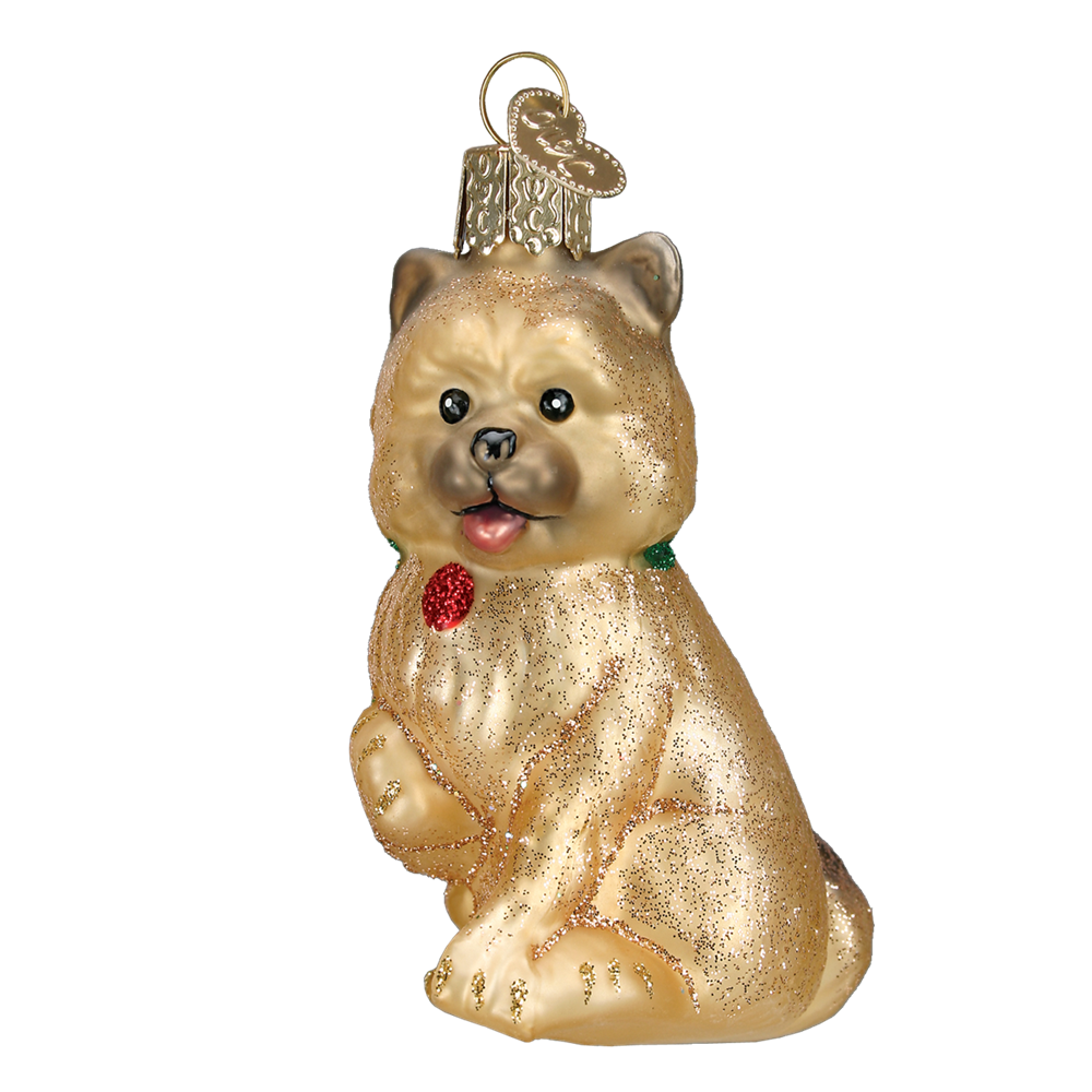 Old World Christmas Cairn Terrier Glass Dog Ornament -  Christmas Decorations - Old World Christmas - Putti Fine Furnishings Toronto Canada