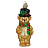 Old World Christmas Top Hat Teddy Glass Ornament -  Christmas Decorations - Old World Christmas - Putti Fine Furnishings Toronto Canada - 1