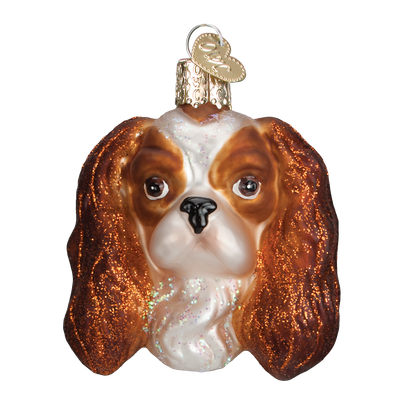 Old World Christmas Cavalier King Charles Head Christmas Ornament -  Christmas - Old World Christmas - Putti Fine Furnishings Toronto Canada - 1