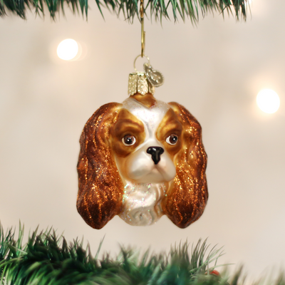 Old World Christmas Cavalier King Charles Head Christmas Ornament -  Christmas - Old World Christmas - Putti Fine Furnishings Toronto Canada - 4