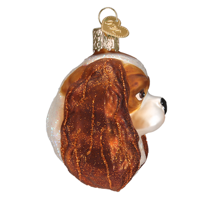 Old World Christmas Cavalier King Charles Head Christmas Ornament -  Christmas - Old World Christmas - Putti Fine Furnishings Toronto Canada - 2