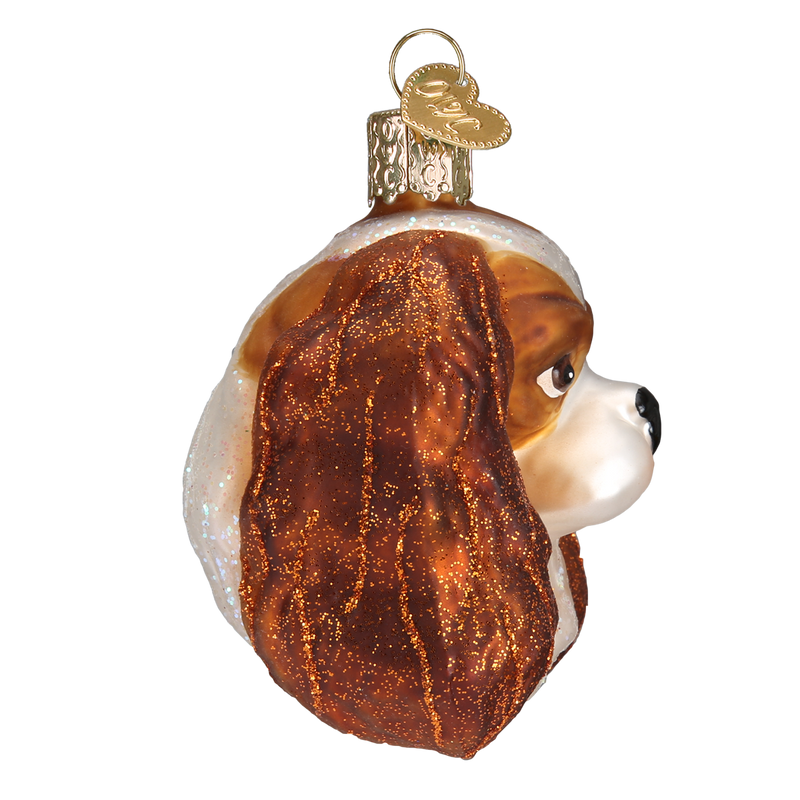 Old World Christmas Cavalier King Charles Head Christmas Ornament
