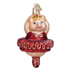 Old Word Christmas Ballerina Pig Glass Ornament, OWC-Old World Christmas, Putti Fine Furnishings