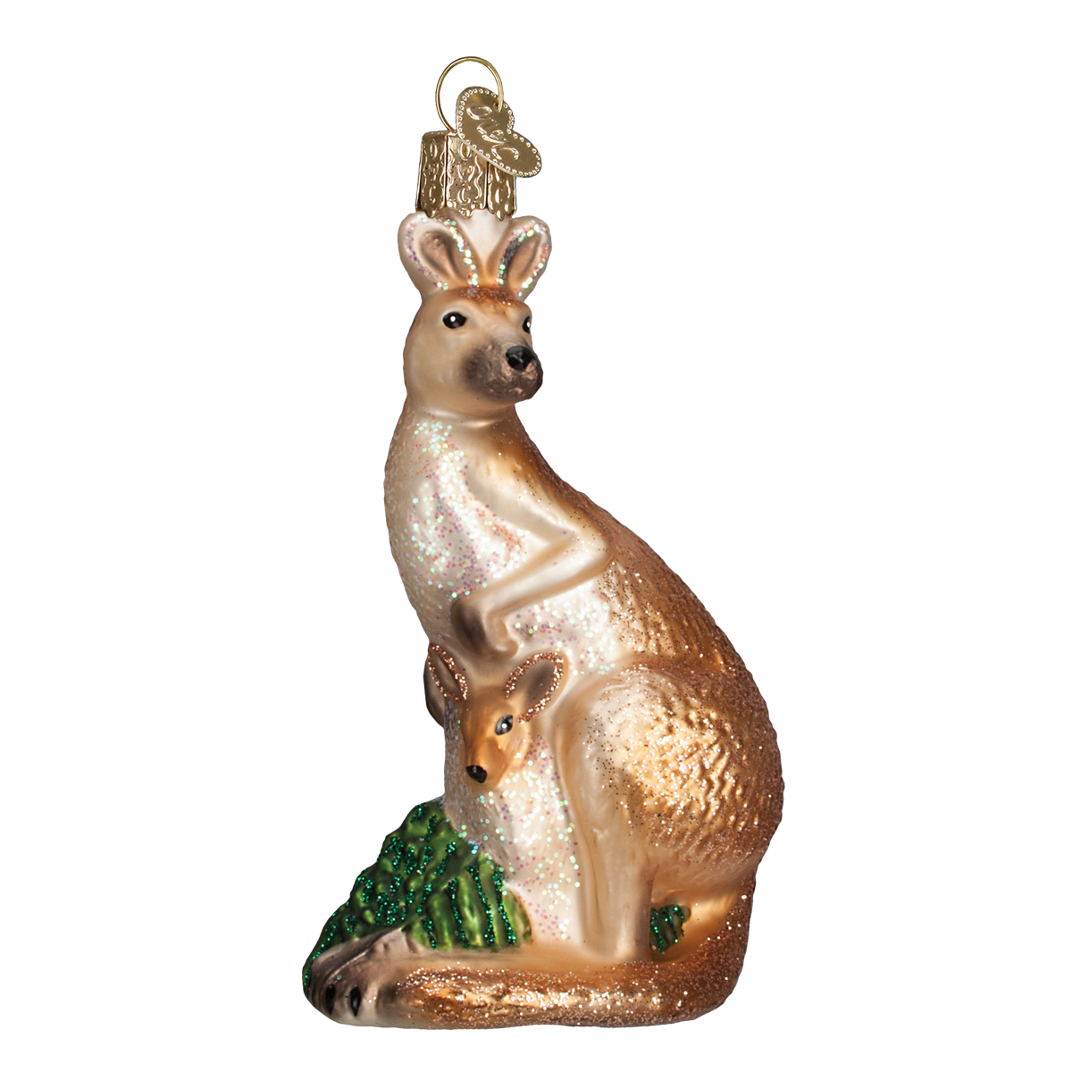 Old Word Christmas Kangaroo Glass Ornament, OWC-Old World Christmas, Putti Fine Furnishings