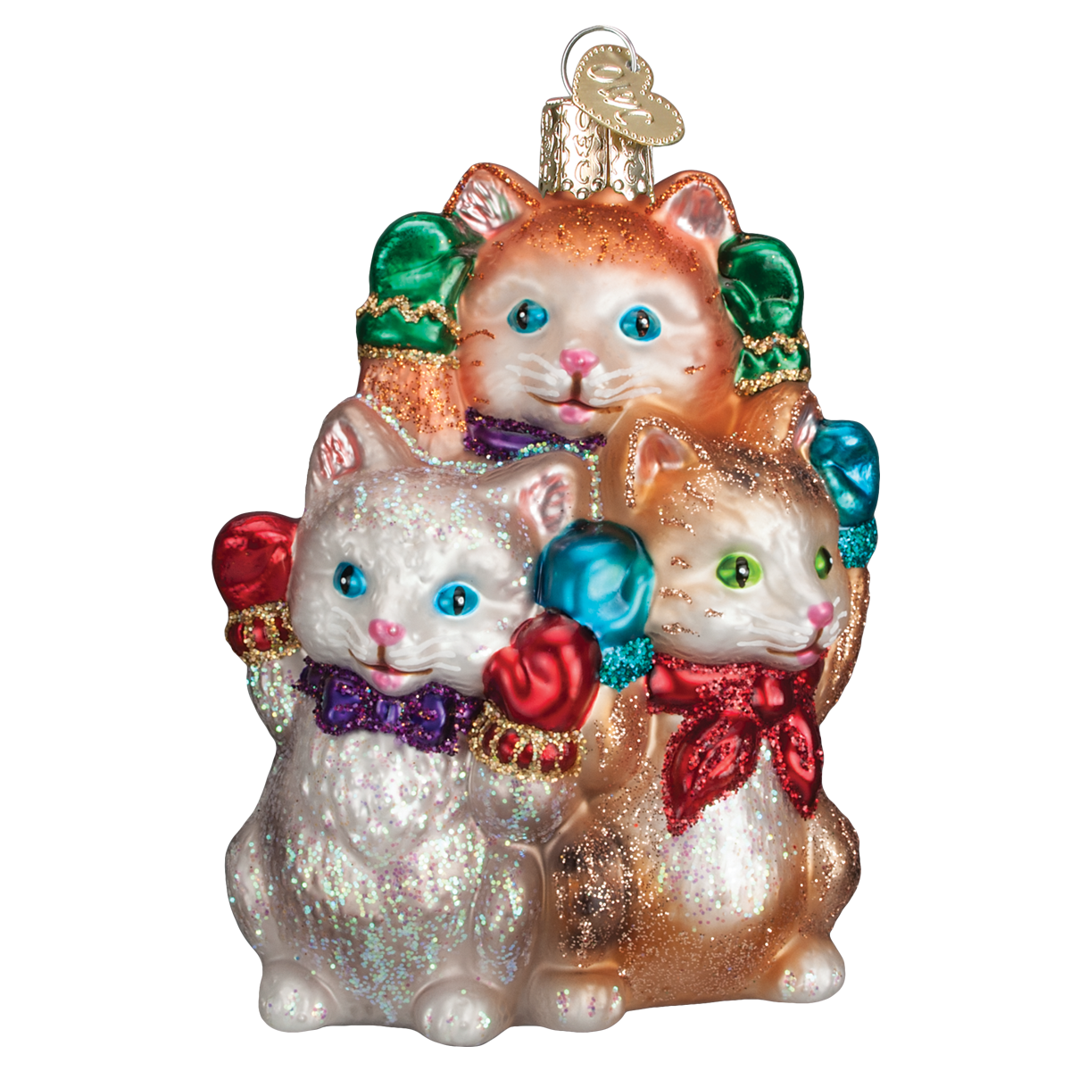 Old World Christmas Three Little Kittens Glass Christmas Ornament -  Christmas - Old World Christmas - Putti Fine Furnishings Toronto Canada - 1