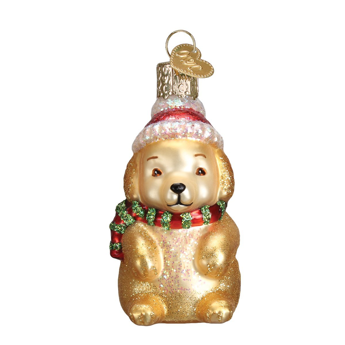 Old World Christmas Winter Puppy Glass Ornament | Putti Christmas