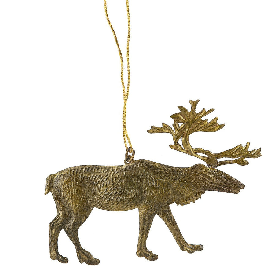 Pressed Brass Elk Ornament