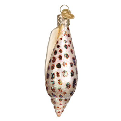 Old World Christmas Junonia Shell Glass Ornament -  Christmas Decorations - Old World Christmas - Putti Fine Furnishings Toronto Canada - 4