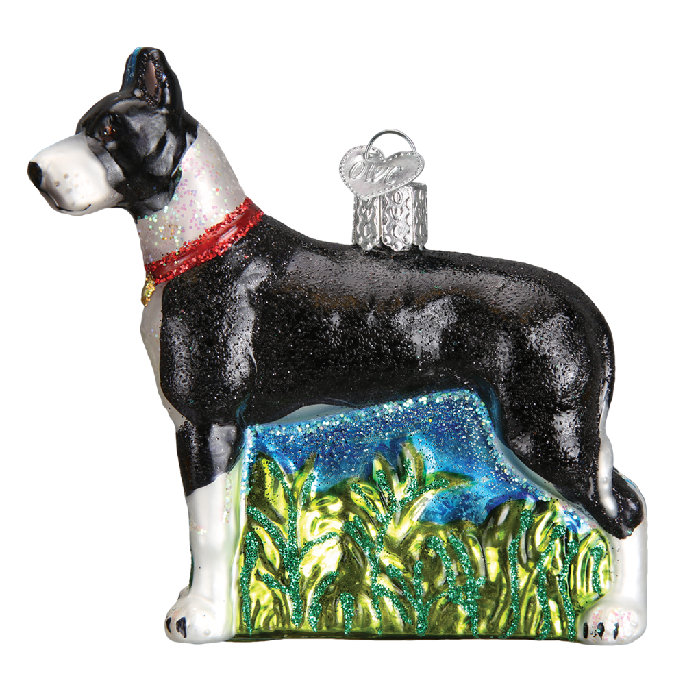 Old World Christmas Great Dane Christmas Dog Ornament, OWC-Old World Christmas, Putti Fine Furnishings