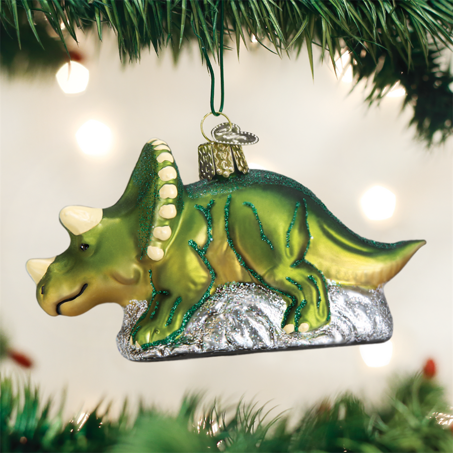 Old World Christmas Triceratops Christmas Ornament