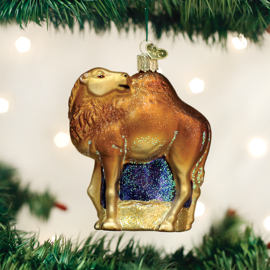 Old World Christmas Camel Glass Ornament