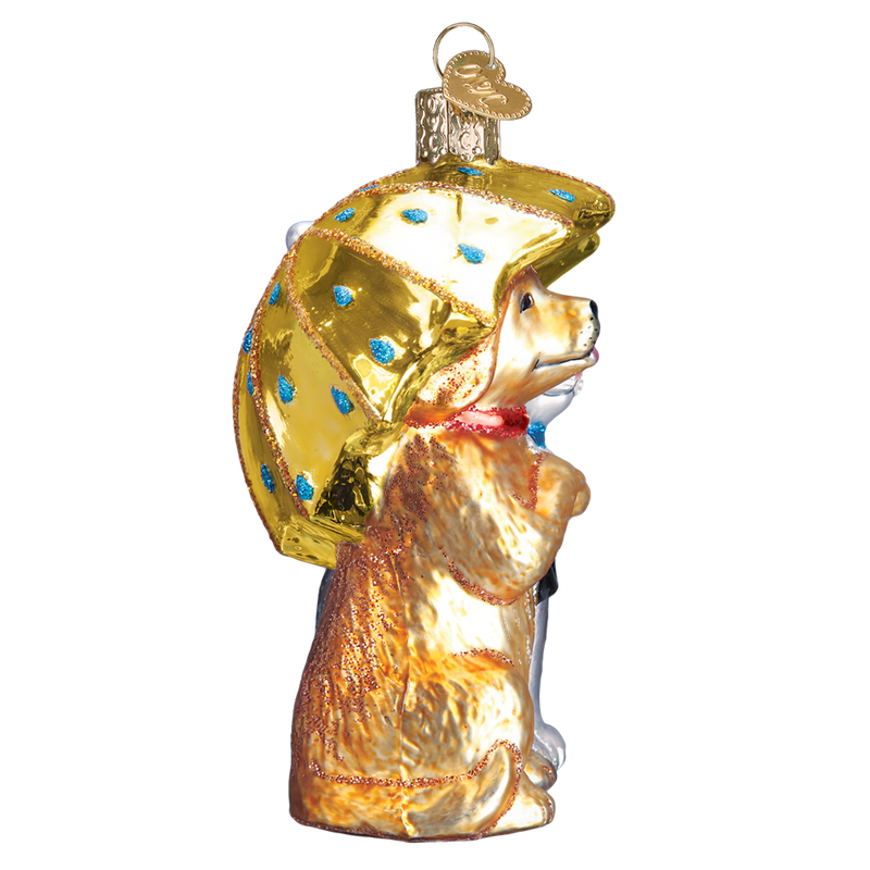 Old World Christmas Raining Cats & Dogs Glass Ornament, OWC-Old World Christmas, Putti Fine Furnishings