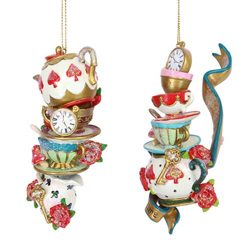 Teapots, Cups and Saucers Hanging Ornament