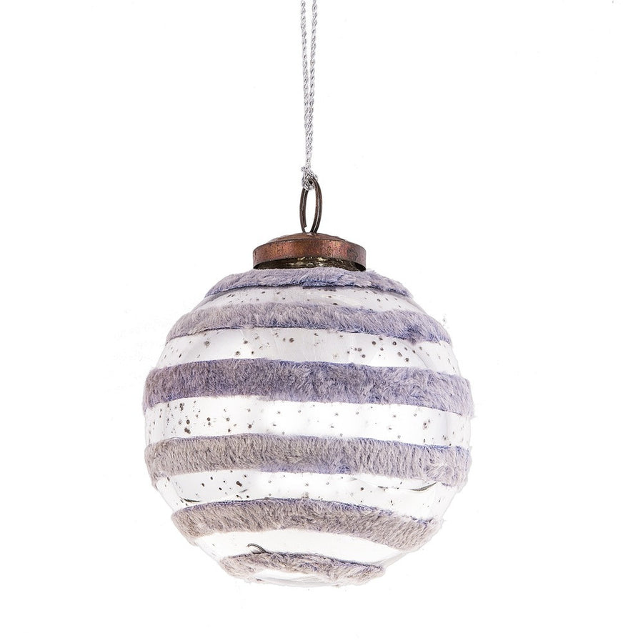 Velvet Stripe Ball Ornament - Large