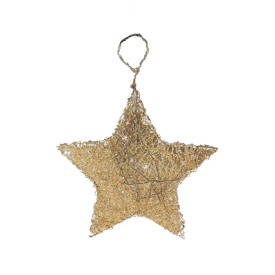 Silver Gold Bouillon  Star Ornament, MW-Midwest / CBK, Putti Fine Furnishings