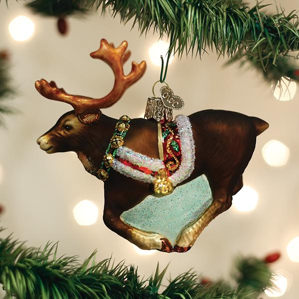 Old World Christmas Reindeer Ornament Glass Ornament Putti Canada