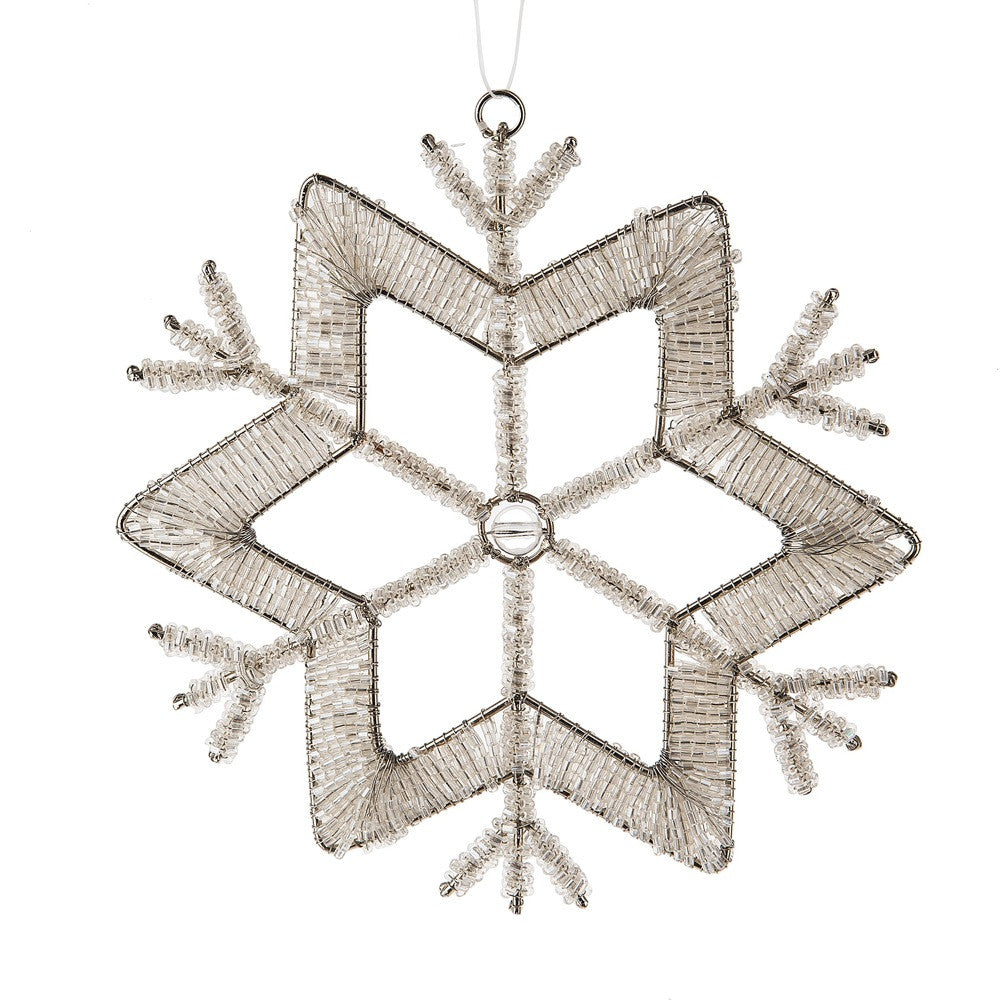 Beaded Snowflake Ornament, MW-Midwest / CBK, Putti Fine Furnishings