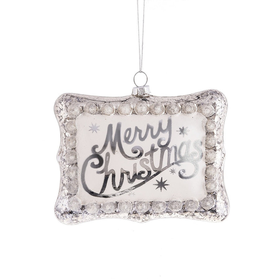 """Merry Christmas"" Glass Ornament"