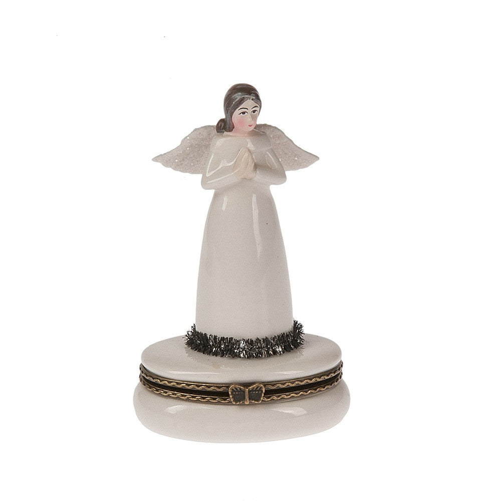 Porcelain Angel Pill Box, MW-Midwest / CBK, Putti Fine Furnishings