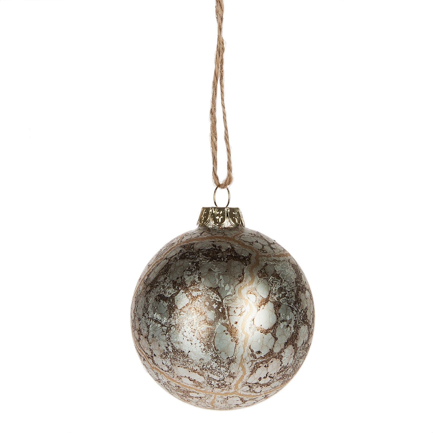 Marbled Ball Ornament, MW-Midwest / CBK, Putti Fine Furnishings