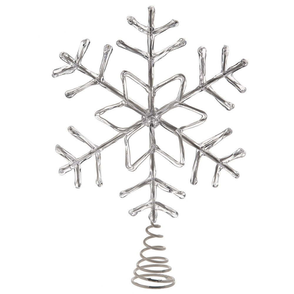Clear Snowflake Christmas Tree Topper