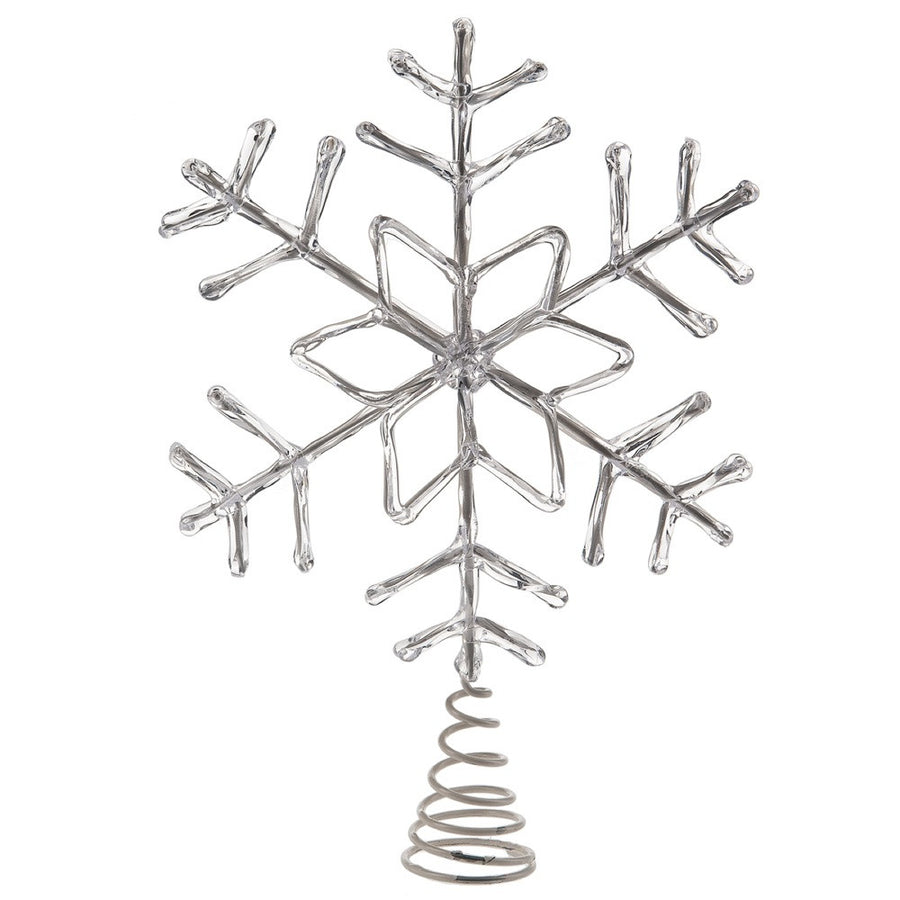 Clear Snowflake Tree Topper