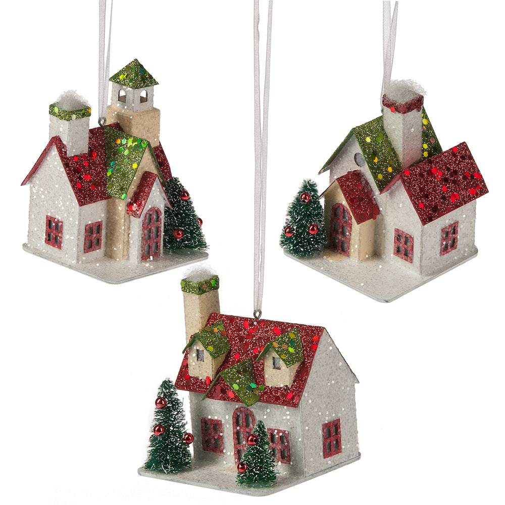 Red House Ornament, MW-Midwest / CBK, Putti Fine Furnishings