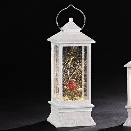 Roman LED Swirl Lantern with Cardinal | Putti Christmas