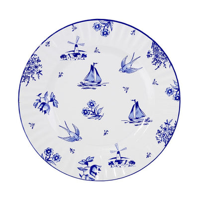 Party Porcelain Blue Large Paper Plates Swallows -  Party Supplies - Talking Tables - Putti Fine Furnishings Toronto Canada - 3