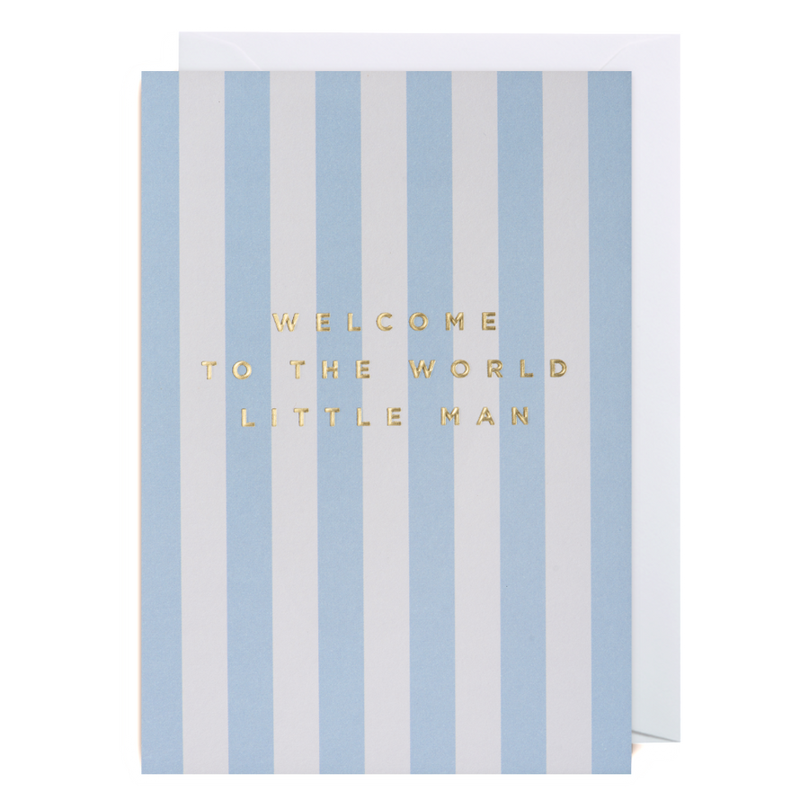 Welcome to The World Little Man Greeting Card