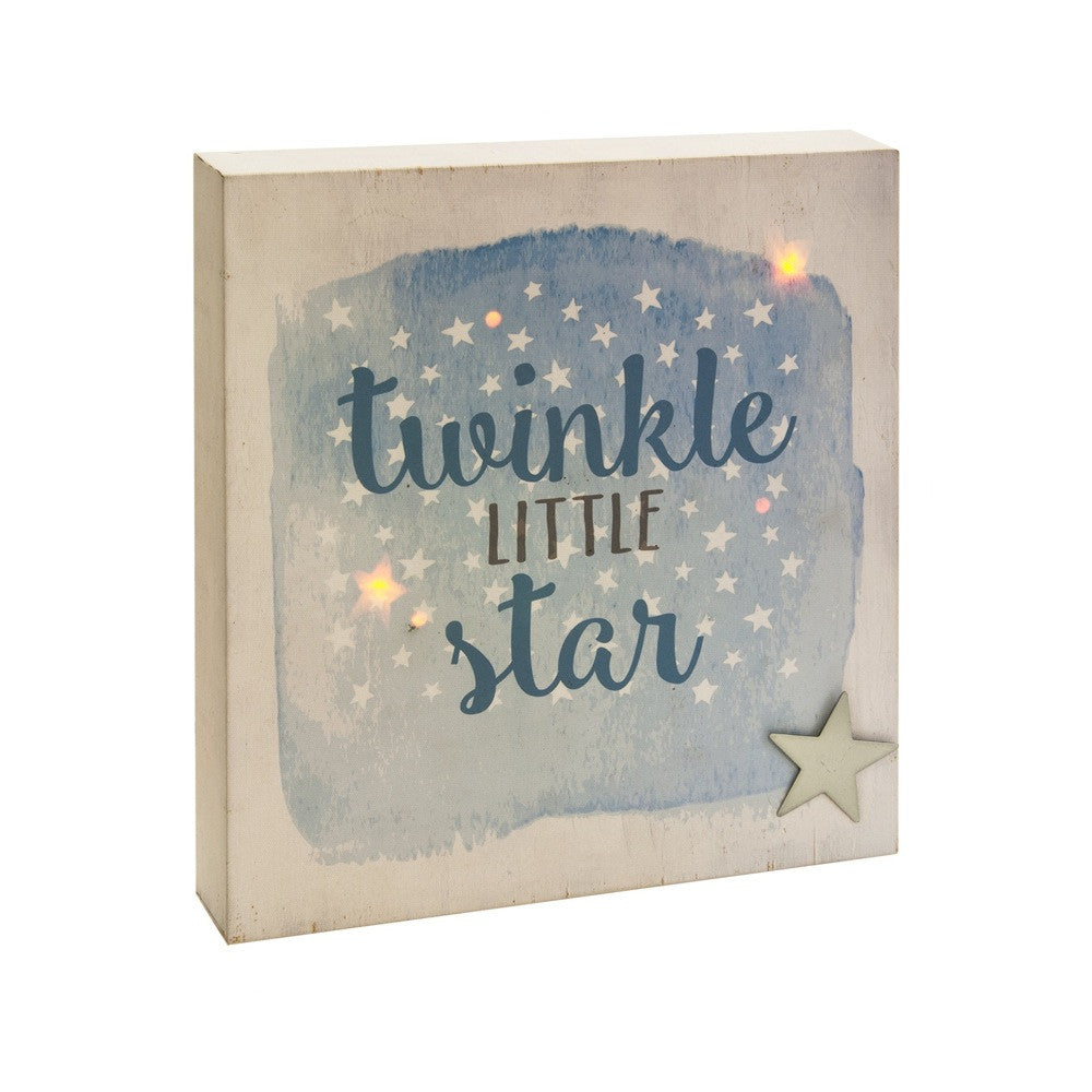 """Twinkle Little Star"" LED  Canvas Light Box -  Accessories - Midwest - Putti Fine Furnishings Toronto Canada"