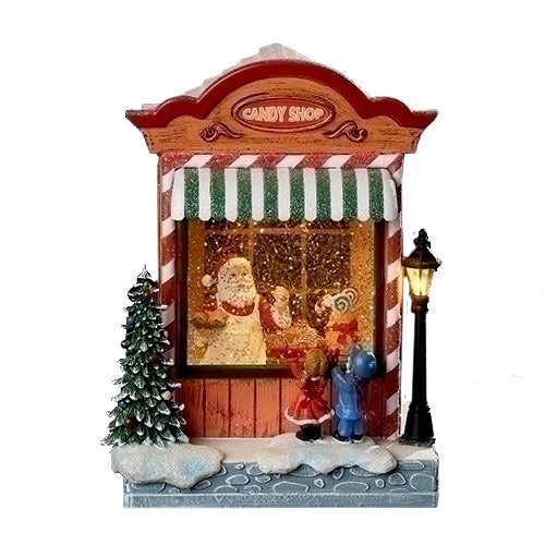 Musical Perpetual Snow Candy Shop with Light | Putti Christmas