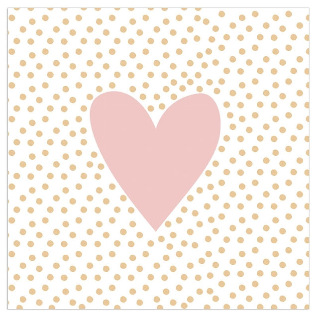 Pink Heart Lunch Napkins | Putti Celebrations Canada