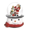 Santa on Snowman Head Base Snow Globe | Putti Christmas