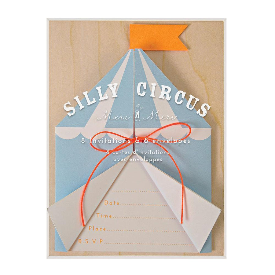 Silly Circus Invitations
