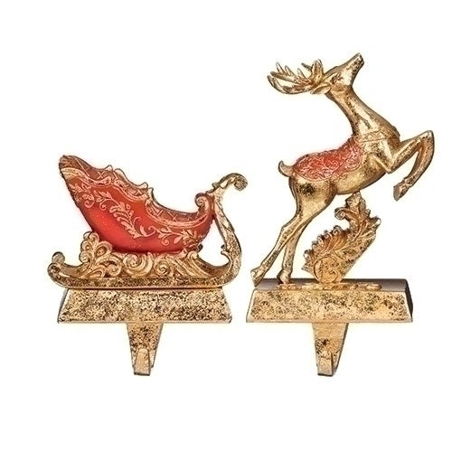 Reindeer Stocking Holders - 2 pc set