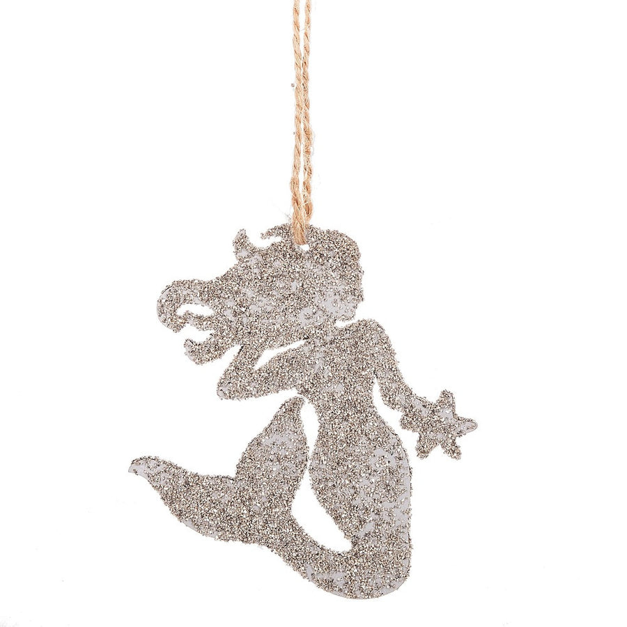 Glittered Mermaid Ornament