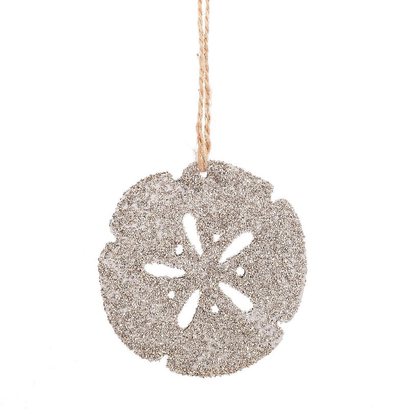 Glittered Sand Dollar Ornament, MW-Midwest / CBK, Putti Fine Furnishings
