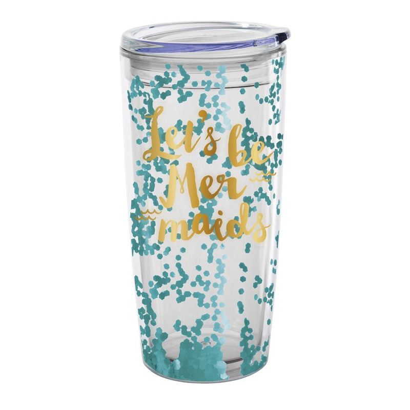 """Let's be Mermaids"" Travel Tumbler, SC-Slant Collections, Putti Fine Furnishings"